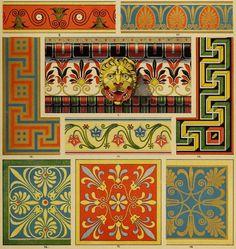 [Detail] Der Ornamentenschatz; ein Musterbuch stilvoller Ornamente aus allen Kunstepochen (1887) In the Mary Ann Beinecke Collection of Decorative Art. http://archive.org/stream/derornamentensch00dolm#page/n23/mode/2up