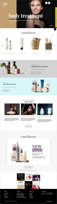 Salon is a modern and elegant design responsive #WordPress theme for beauty salons, #beauty treatment, spa and #healthcare websites download now➩ https://themeforest.net/item/salon-wordpress-theme-for-hair-beauty-salons/19250903?ref=Datasata