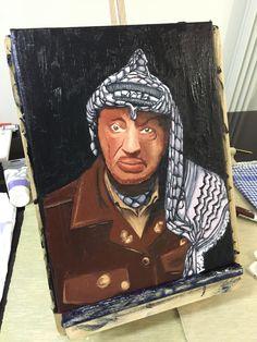 La Befana Arafat - olio 30x40 [serie Dittatori] Painting, Art, Painting Art, Paintings, Painted Canvas, Drawings