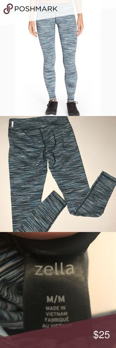 Zella Live In Leggings Zella Live In Leggings • heather Black Grey and aqua • Like New Condition • from Nordstrom • no trades Zella Pants Leggings