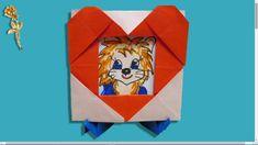 Origami : Cadre photo-cœur avec support