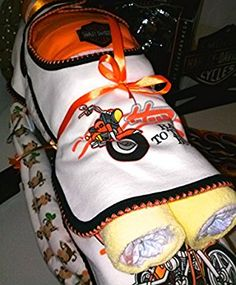 Harley Davidson Diaper Cake Motorcycle Baby Shower Centerpiece Or Baby Gift  By Little Kg Dreams