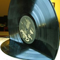 Bookends from Custom Vinyl Records. #records #vinyl #bookends http://www.pinterest.com/TheHitman14/for-the-record/