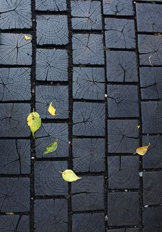 Black end grain flooring - would make a beautiful wall hanging or full treatment.