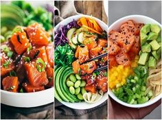 Poke: comida havaiana é aposta para o verão!    Conheça a nova moda do verão: poke, comida havaiana com peixe cru, legumes frescos, molho e muito gergilim!