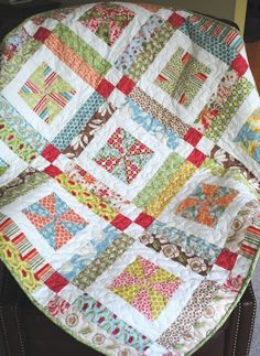 Lemonade Lollipop Baby QUILT PATTERN.... Easy...one Layer CAKE, Pdf available. $9.00