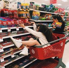If that was me and my BFF I would push the cart across the ally and have her hit. If that was me and my BFF I would push the cart across the ally an Cute Friend Pictures, Best Friend Photos, Best Friend Goals, Friend Pics, To My Best Friend, Best Friend Things, Bff Pics, Bff Goals, Insta Goals