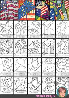 Interactive and pattern filled coloring sheets for Patriotic events like Independence Day, Veterans Day, Presidents Day and Memorial Day. Great art project for kids and with both designs included there is something for everyone--even adults who love Patriotic Symbols, Patriotic Crafts, Veterans Day Activities, Art Activities, School Art Projects, Projects For Kids, Coloring Sheets, Coloring Pages, Patriots Day