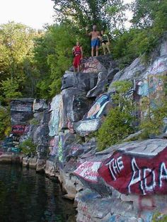 """The rock quarry...  Can you say """"Red Neck Yacht club""""?  Memories..."""