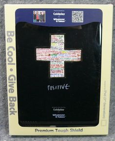 Apple iPad Coldplay Positive Shield Whatever It Takes 3rd generation Black NEW…