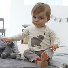 Cute! Cotton Sweater and Leggings Outfit, £8.50, La Redoute