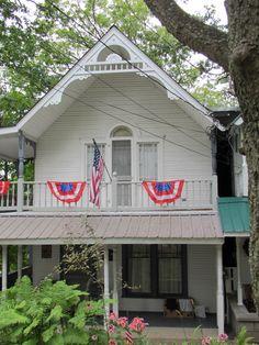 Cottage in Epworth Park, Bethesda, Ohio, during Chautauqua 2012.