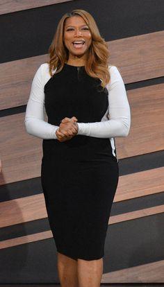 Queen Latifah Show LONG SLEEVE COLOR BLOCKED BODYCON DRESS