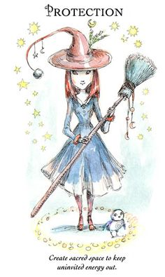 "☆ Witchling: Protection ""Create sacred space to keep uninvited energy out."" -::- Artist Paulina Cassidy ☆"