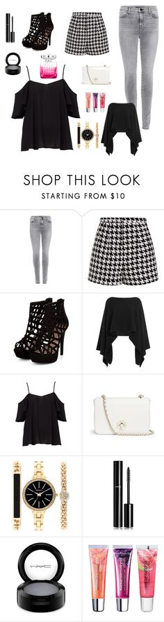 """""""Black & White New Year Outfit"""" by adellx ❤ liked on Polyvore featuring J Brand, Emma Cook, Donna Karan, Tory Burch, Style & Co., Chanel, MAC Cosmetics, Maybelline, Jimmy Choo and women's clothing"""