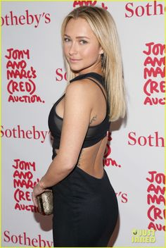 Hayden Panettiere rocks a dress with sheer markings at Jony And Marc's (RED) Auction held at Sotheby's in New York City. #Hollywood #Fashion #Style #Beauty
