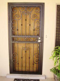Pictures of screened entryway | Security screen door