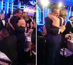 Kate Winslet e Leonard DiCaprio concorreram ao Globo de Ouro em 1997 por seus trabalhos em 'Titanic'. Confira o vídeo do encontro!