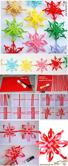 DIY Colorful Snowflakes