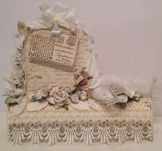 Paper Roll Pencil Box and Post It note Holder - Wit flowers from WOC and A Day in may papers from Pion Design - Anne Rostad
