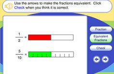 Interactive Education: Equivalent Fractions