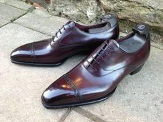 """Holden in Vintage Rioja Calf... love the hi-gloss! Frm bd: The Art of Bootmakers & """"Pompes"""""""