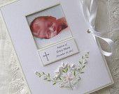 Baptism Photo Album, Personalized Photo Album, Baby Gift, Christening Gift, Dedication, Newborn Gift, Photo Brag Book, 5x7