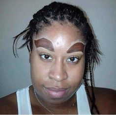 Ridiculous Big Eyebrows – Makeup Fail – So Funny Epic Fails Pictures Big Eyebrows, How To Draw Eyebrows, Eyebrows On Fleek, Worst Eyebrows, Funny Eyebrows, Perfect Eyebrows, Mac Pro, Eyebrows, Domingo