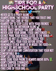 High School Parties, High School Hacks, Life Hacks For School, Girl Life Hacks, School Tips, Girl Advice, Girl Tips, Freshman Advice, School Survival Kits