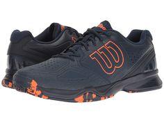 WILSON WILSON - KAOS COMP (DRESS BLUE/NAVY BLAZER/FLAME) MEN'S TENNIS SHOES. #wilson #shoes #