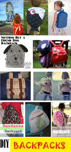 fresh juniper: Kids Backpack Tutorials - Adorable DIY Backpacks Collection