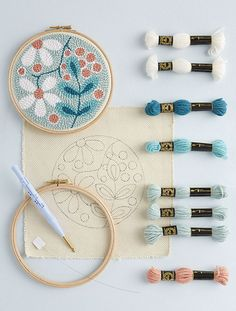 White flowers punchneedle kit Learning the punch needle technique is easy! - White flowers punchneedle kit Learning the punch needle technique is easy! Source by maramaaat - Punch Needle Kits, Punch Needle Patterns, Hand Embroidery Patterns, Diy Embroidery, Embroidery Designs, Art Du Fil, Craft Punches, Punch Art, Rug Hooking