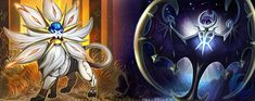 Sun and Moon by RenePolumorfous.deviantart.com on @DeviantArt (Solgaleo and Lunala)