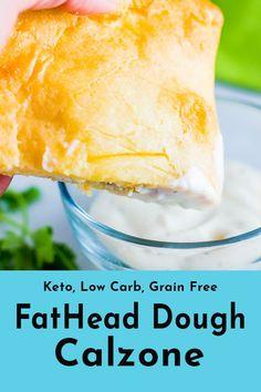 Keto pizza (sin gluten y baja en carbohidratos):? Coconut Flour Desserts, Almond Flour Recipes, Ketogenic Recipes, Low Carb Recipes, Gf Recipes, Ketogenic Diet, Fathead Bread, Fathead Dough Recipe, Calzone Recipe