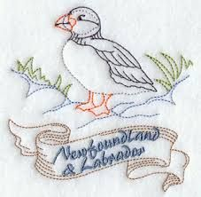Image result for newfoundland quilt pictures Bird Embroidery, Embroidery Transfers, Machine Embroidery Designs, Embroidery Stitches, Embroidery Ideas, Punch Needle Patterns, Cross Stitch Patterns, Quilt Patterns, Sewing Patterns