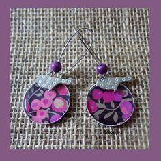 Grandes boucles d'oreilles liberty wiltshire rose : Boucles d'oreille par…