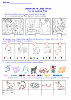 Materiale didactice de 10(zece): Test de evaluare finală-CLR, clasa pregătitoare Educational Activities For Kids, Preschool Activities, Romanian Language, School Frame, Kids Math Worksheets, Alphabet Writing, Math For Kids, Kids Education, Classroom