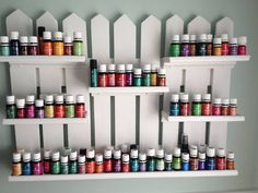 Young's Living Oils display