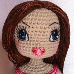 Kindabam Crochet  #doll #crochetdoll #crochet #crochettoy #amigurumi #amigurumidoll #customdoll #eyesembroidery #handmadedoll