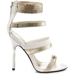 You wont be taking a gamble with these fun and fierce sandals from Bebe. Gamble has a sleek white upper with gold faux croc print and mesh details embellishing the straps. A 4 inch white heel finalizes this favorite party pump. White Heels, Gold Heels, White Brand, Your Shoes, Shoe Game, Fashion Addict, Heeled Boots, Pumps, Sandals
