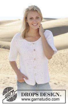 "Knitted DROPS jacket in garter st in ""Paris"". Size: S - XXXL. ~ DROPS Design"