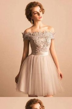 c76759f68a2 On Sale Enticing Off-the-shoulder Appliqued Beading Homecoming Dresses   HomecomingDresses2018 Homecoming Dresses 2018