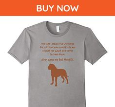 Mens Along Came My Bull Mastiff Inspirational Dog Lovers T-Shirt  Large Slate - Animal shirts (*Amazon Partner-Link)