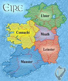 Eire (how you pronounce Erin in Ireland), which MEANS Ireland. My great great great grandfathers family was from Ulster in the north. I've never seen it on a map before. Made me smile!