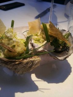Oysters with brandade by Sergio Herman at The Jane Antwerp