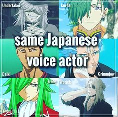 What the heck? HOW CAN FREED AND UNDERTAKER HAVE THE SAME VOICE ACTOR?! I AM FREAKING OUT!!!!