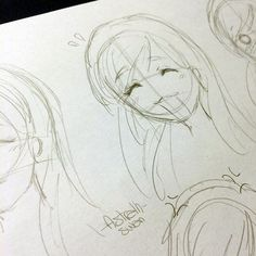 Exercise expressions by Astralh.deviantart.com on @deviantart #exercise #expression #manga #mangaexercise #myart #sketch #pencil #girl #faceexpression #face