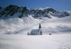 ❧ Antarctica. This Norwegian Lutheran Church is located at the abandoned Grytviken whaling station on South Georgia Island, seen here, on September 27, 2011. The island is governed by Great Britain via King Edward Point Station, located a short distance from this church. (National Science Foundation/Julian Race)