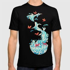 - Water of Life - Design by Tang Yau Hoong  American Apparel T-shirts are made with 100% fine jersey cotton combed for softness and comfort. (Athletic Grey and Athletic Blue contain 50% polyester / 25% cotton / 25% rayon)
