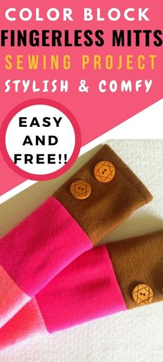 Now that the weather is growing colder, you need to make this free fleece fingerless gloves pattern. This easy DIY project is great for a beginner. This pattern features a thorough tutorial complete with pictures of each step. Try this fun sewing project is just what you need to keep your hands warm, but your fingers free this winter. Make these free fingerless gloves for yourself or to give away as a special DIY gift. #diysewingprojectseasy #sewfingerlessglovespattern…
